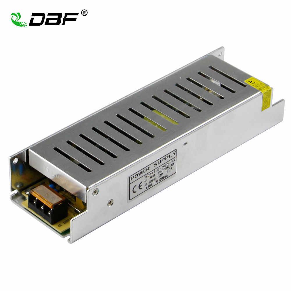 [DBF] transformator AC110/220 V do DC12V 5A/60 W 8.3A/100 W 10A/ 120 W 16.7A/200 W 20A/250 W 30A/360 W zasilacz do 3528 5050 LED taśmy