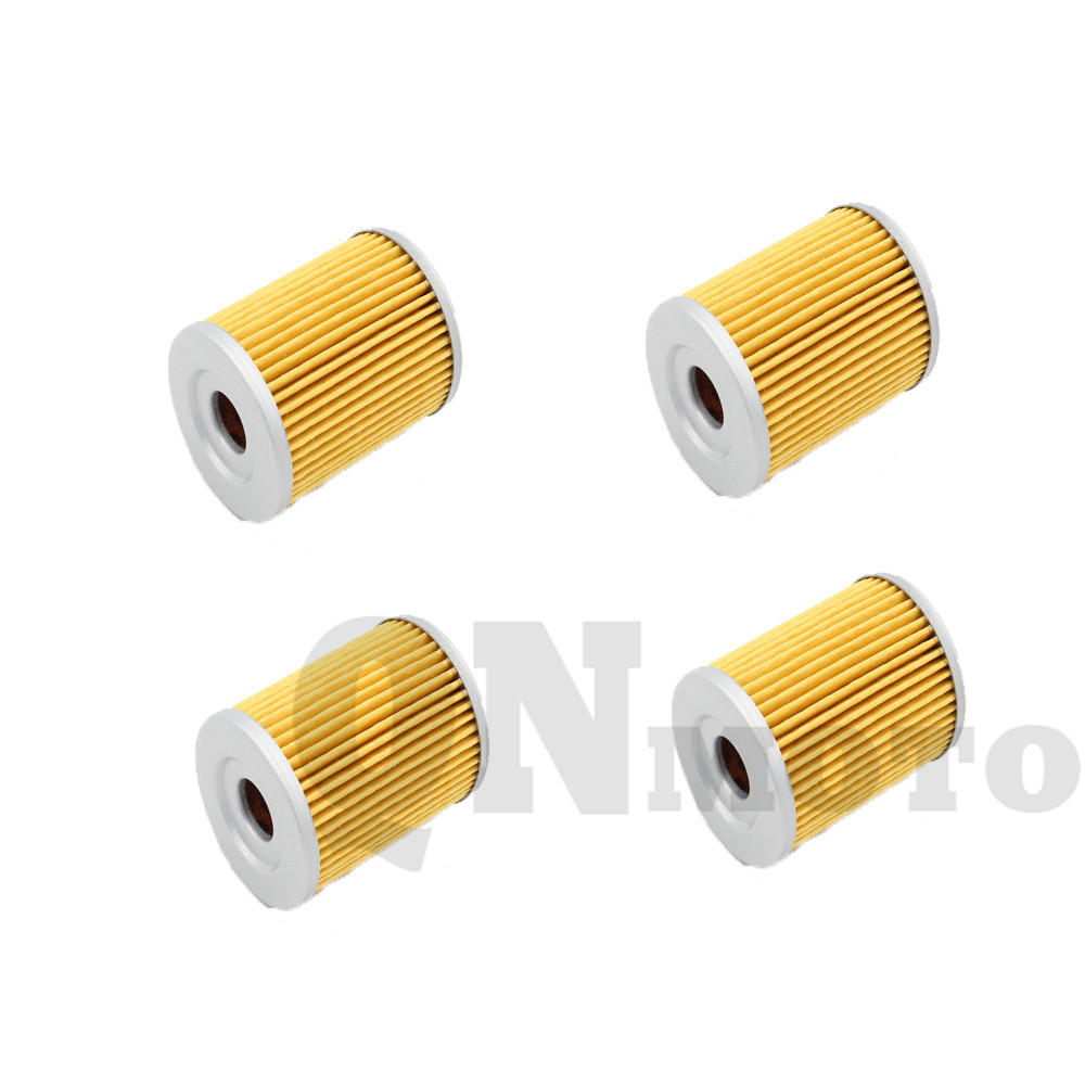 4 pcs motorcycle oil filter for lt250 ef eff efg 85 86 lt