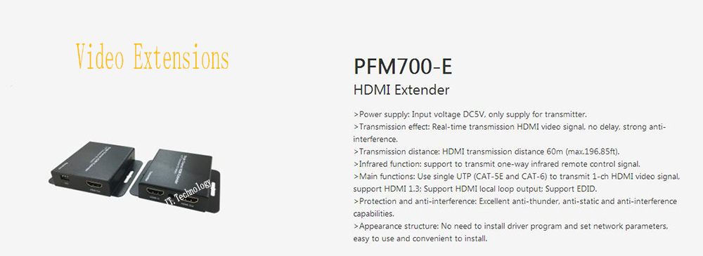 Free Shipping Original Dahua Security Products HDMI Extender Without Logo CCTV Accessories PFM700-E 80 channels hdmi to dvb t modulator hdmi extender over coaxial