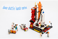 Legoed City LepinS Spaceport Space Shuttle Building Block Sets Space Center DIY Bricks Classic Christmas gift Toys For Children