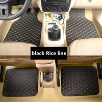 Car Floor Mats for BMW 2 series gran tourer F46 Toyota REIZ MARK X Avalon Lexus es250 lx570 Car Leather floor mats carpet liner