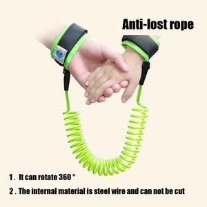 Детские спиральные наручники с защитой от потери, яркие Эластичные Игрушки из проволочного материала для родителей и детей, игрушки для кос...
