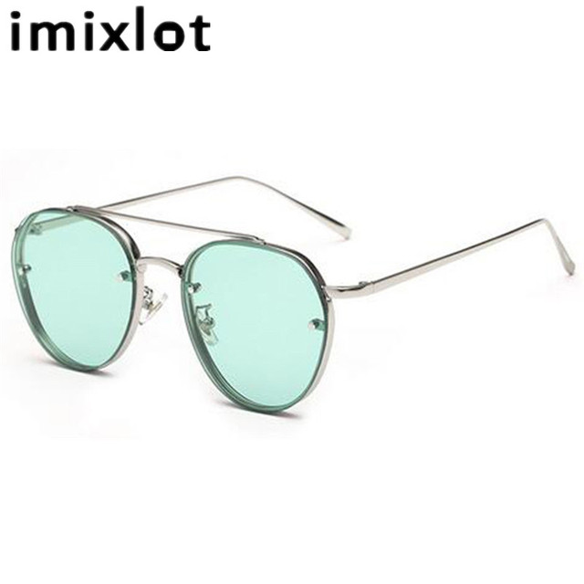 IMIXLOT Cor Doce Novo Estilo Aviador Óculos De Sol Das Mulheres Shades Óculos Unisex óculos óculos de Lente Transparente Óculos Homens Frame Da Liga