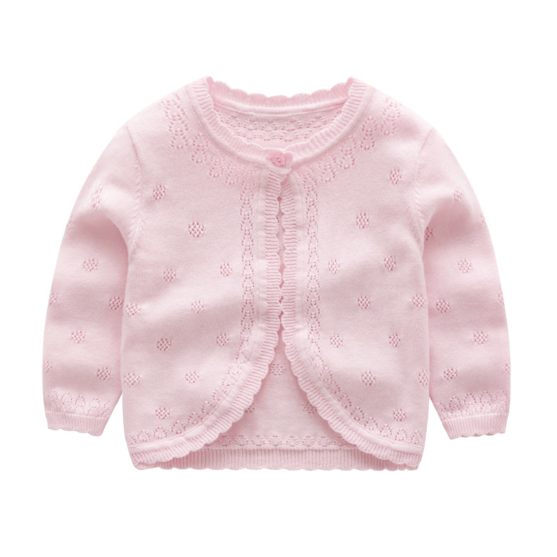 Autumn Baby Sweater For Girls Cardigan For Girls Sweater Kids Children's Clothes For Girls Clothes Embroidery Fashion  YP