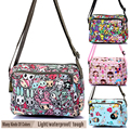 Fashion Women's Waterproof Nylon Cute Cartoon Harajuku Printing Crossbody Single Shoulder Satchels Bags For Girl Lady's Child
