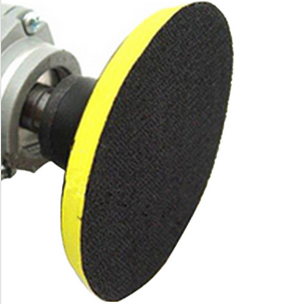 Fixmee NEW 150mm angle grinder sander polishing buffing bonnet polisher buffer wheel pad disc disk axle dia M14 polishing pad with self adhesive 175mm 7 thread m14 sanding disc polish pad for electric angle grinder polisher