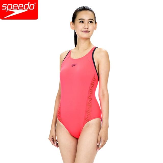 c964af3c12c1a Speedo Professional Women's Swimsuit Monogram Muscleback ENDURANCE+  One-piece Slimming Swimwear Anti Chloride
