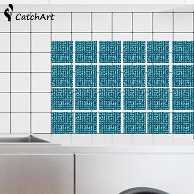 Retro Mosaik Fliesen Aufkleber Taille Linie Wandaufkleber Küche Bad ...