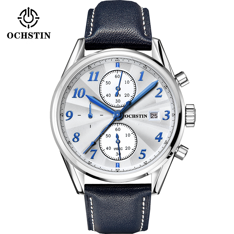 OCHSTIN Luxury Brand Men Fashion Watch New Military Sport Wristwatch Chronograph Leather Male Quartz Clock Relogio Masculino 2017 ochstin luxury watch men top brand military quartz wrist male leather sport watches women men s clock fashion wristwatch