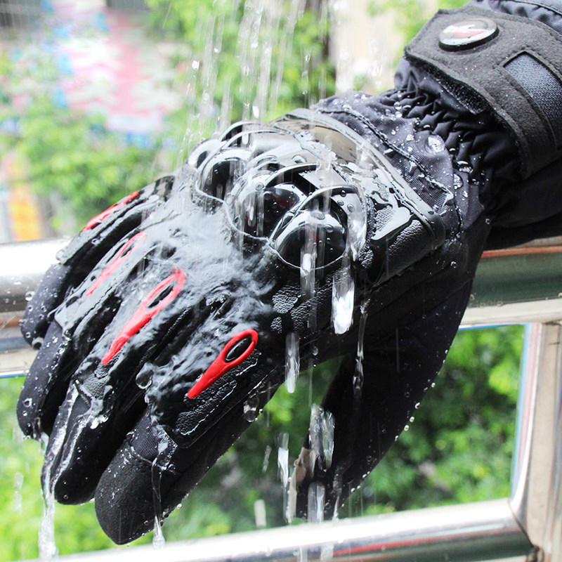 Winter Motorcycle Gloves Waterproof Luvas Ski Protector Mens Touchscreen Motocross Racing Guantes Moto Gloves Windproof Guantes