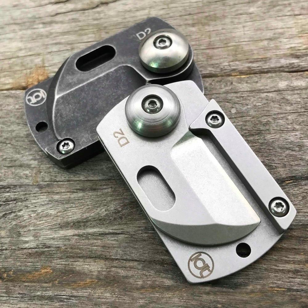 LDT Dog Tag Mini skládací nože D2 Blade Handle Camping Outdoor - Ruční nářadí - Fotografie 6