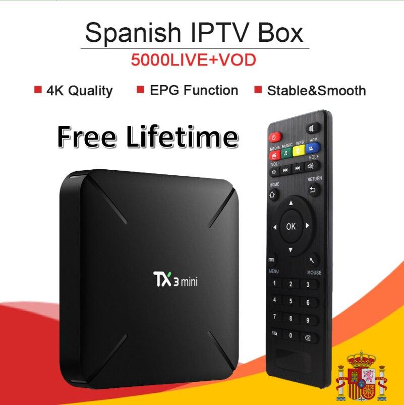 Free Lifetime TX3mini Android7 1 M3U Mag Smart TV Box King Subscription Europe France Turkish Arabia