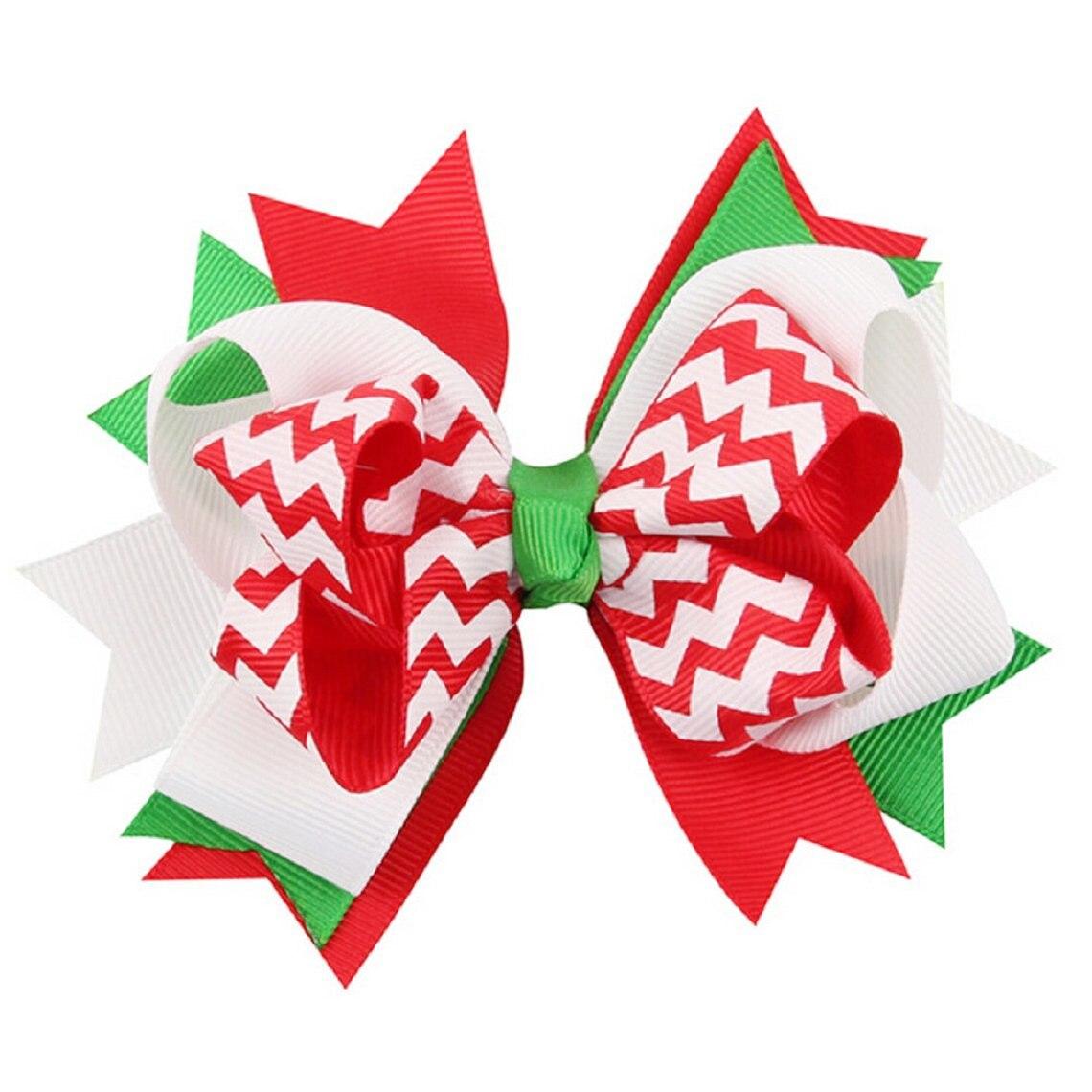 Mypf Рождество волосы луки Украшения бантом шпильки головной убор (005)