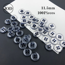 Sizes:11.5mm Navy Transparent SHINE Resin Sewing Buttons Scrapbooking Round Lucency Four Holes Costura Botones Bottoni Botoes c