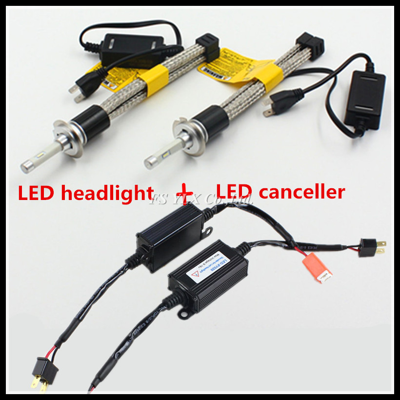 FSYLX Canbus H7 H8 H9 H10 H11 9005 9006 LED headlight car LED fog lamps DRL with decoder resistor Canbus Car LED headlight bulb