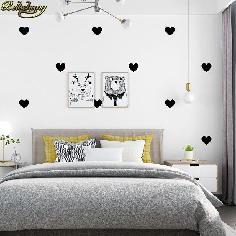 Beibehang papel de parede moderne minimaliste géométrique amour en forme de coeur salon chambre TV fond mur nordique papier peint