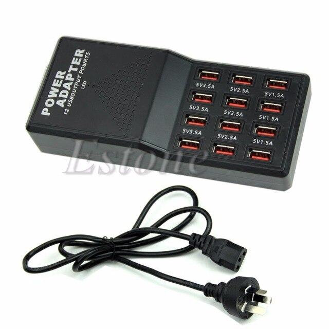 12 Порта USB Выход Зарядное Устройство многофункциональный Адаптер Питания Супер скорость Разъем АС