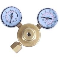 HLZS Mini Argon Co2 Gas Bottle Pressure Regulator Mig Tig Welding Flow Meter Gauge W21.8 1/4 Thread 0 20 Mpa