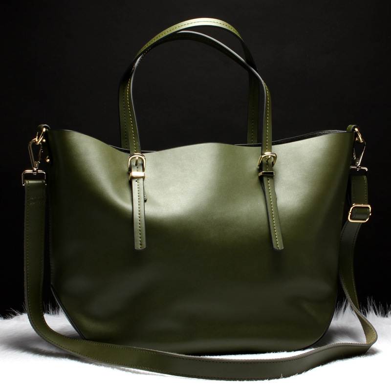 Luxury  Fashion  Green Colors Womens Soft Leather Handbags High Quality Women Shoulder Bags Hot Sale 2pcs Woman BagLuxury  Fashion  Green Colors Womens Soft Leather Handbags High Quality Women Shoulder Bags Hot Sale 2pcs Woman Bag