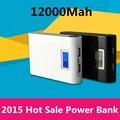 Banco de la energía 8000 mAh 2 backup USB LCD Powerbank de carga Portátil batería externa Universal para el teléfono Móvil Envío gratis