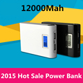 Power bank 8000mAh 2 USB backup Powerbank LCD Portable charge Universal external battery for Mobile phone Free shipping