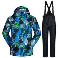 Мужские сноубордические костюмы новые ветрозащитные непромокаемые теплые утолщенные зимние брюки и куртка лыжный комплект одежды LANCH зимн
