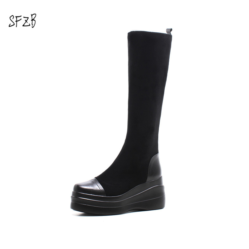 SFZB real cow leather women winter boots with button sheep fur lined woman winter shoes black inoe real sheepskin leather women suede short winter snow boots with button sheep fur lined woman winter shoes black brown 35 44