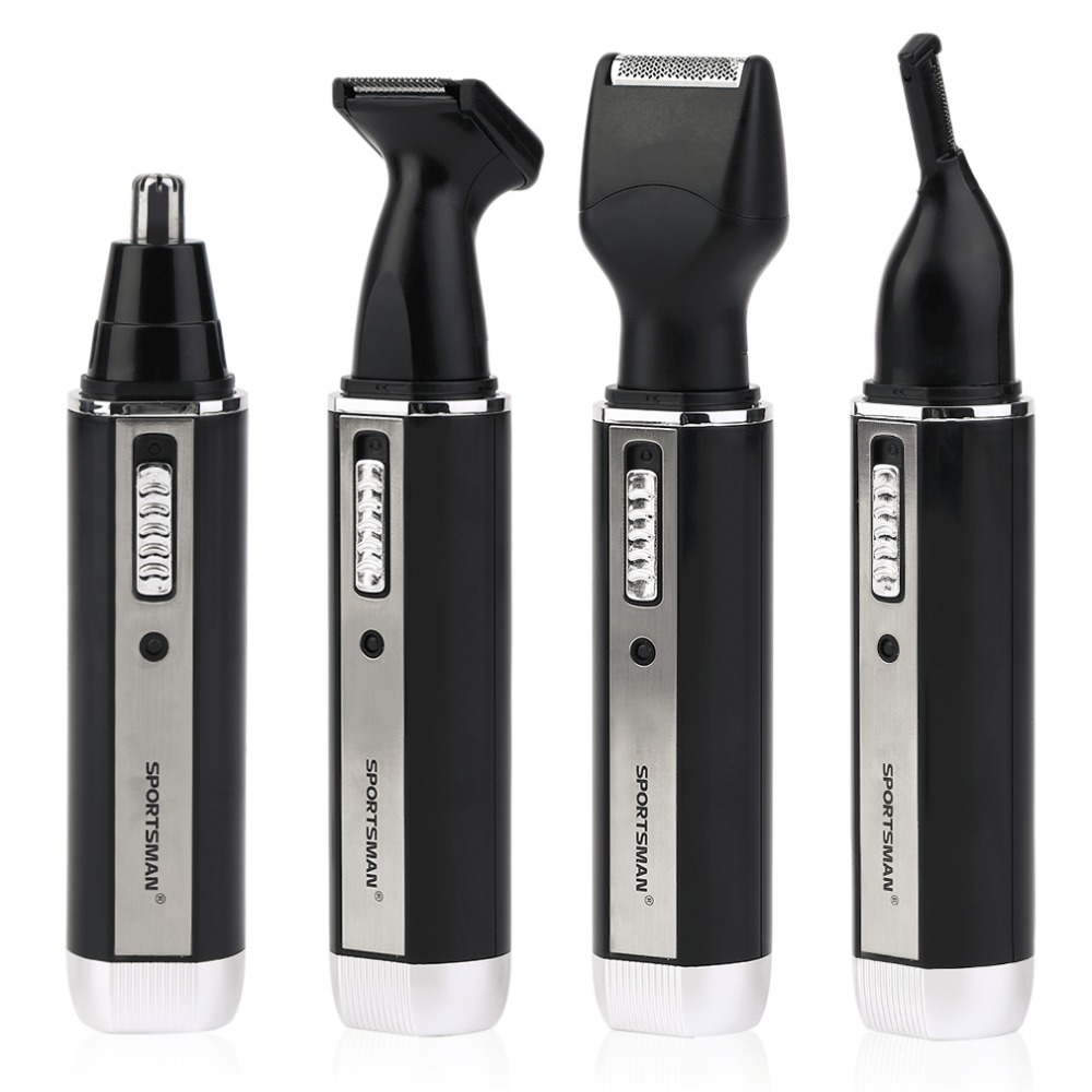 4 in 1 waterproof rechargeable electric men male ear nose trimmer hair clipper shaver beard. Black Bedroom Furniture Sets. Home Design Ideas
