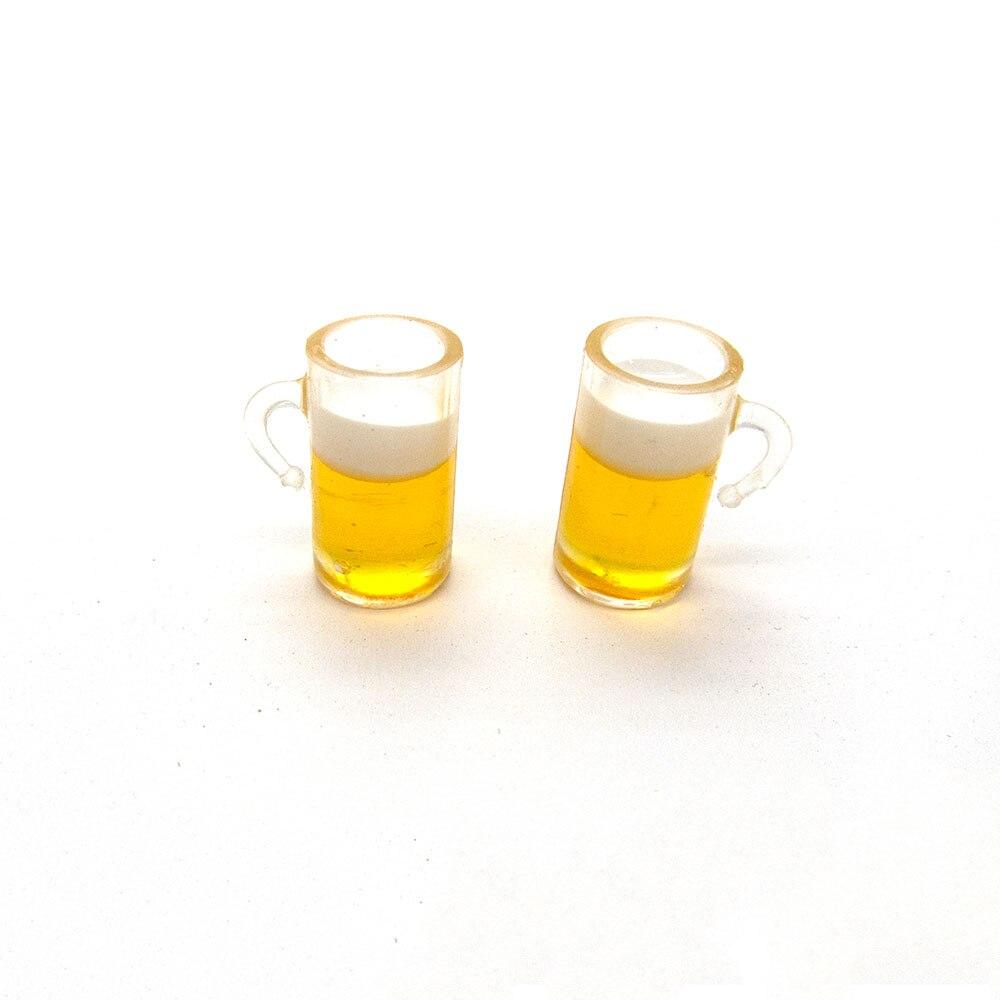 2 pièces 1/12 maison de poupée accessoires miniatures Mini chope de bière Simulation Miniature boisson meubles pour poupée décoration de la maison