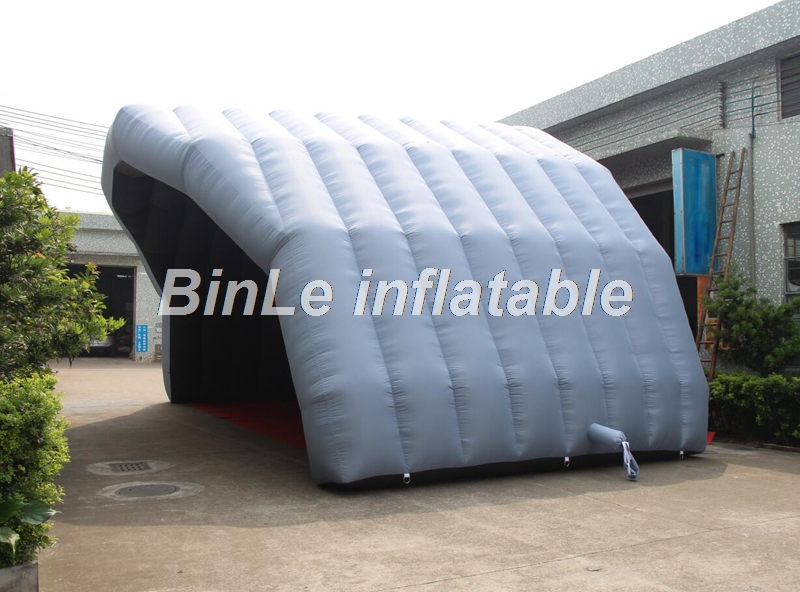 Купить с кэшбэком High quality 10m grey giant inflatable stage tent inflatable stage cover large marquee tent for music festival event