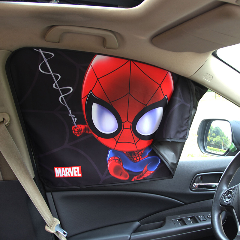 Image 3 - Car Window Sunshade Cover Marvel The Avengers Cartoon Magnetic Side Sun Shade Curtain Universal Side Window Sunshade-in Side Window Sunshades from Automobiles & Motorcycles