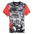 2015 Nova Chegada Homens t camisa de Manga Curta Padrão Jordan Homem tshirts dos homens o-pescoço curto-luva T-shirt de Alta qualidade