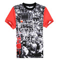 2015 Nueva Llegada de Los Hombres camiseta de Manga Corta Patrón Jordan camisetas Hombre hombres o-cuello corto-manga de la Camiseta de Alta calidad