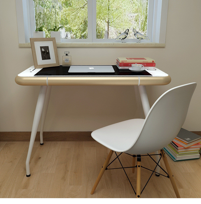 US $690.0 |2017 new design Iphone style writting desk white table glass  furniture living room tables-in Living Room Sets from Furniture on ...