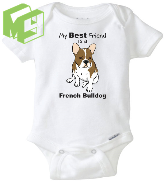f6cb8ed9c My Big sister/brother is a French Bulldog baby personal sleepsuit baby  White Onesie for 0-12M Newborn baby outfit Girl/Boy gift