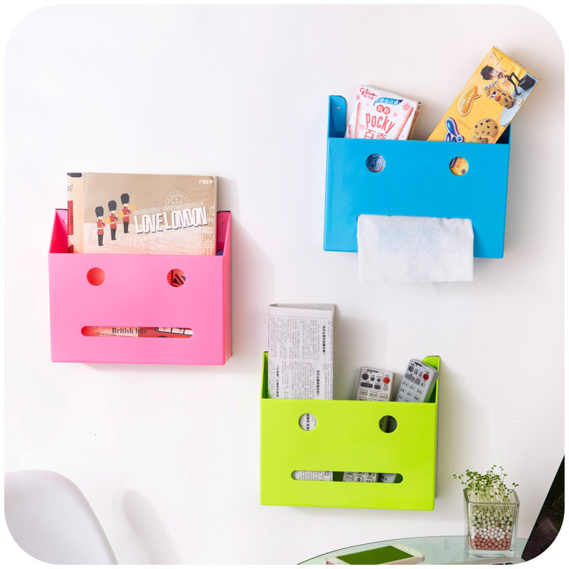 Self-adhesive wall multifunctional storage box, strong glue bathroom kitchen bathroom storage rack shelving P2655