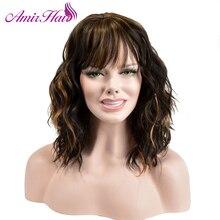 Amir Xoăn Phụ Nữ Trung Phần Cosplay Nhiệt Độ Cao Sợi Tổng Hợp Tóc Nâu màu mix chiều dài Trung Bình Cos Hairpieces