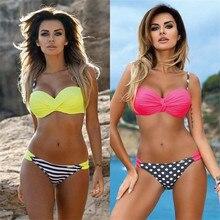 New 2018 Sexy Cross Halte Bikinis Women Swimsuit Female Swimwear Brazilian Bikini Set Vintage Summer Bathing Suit Wear Biquini