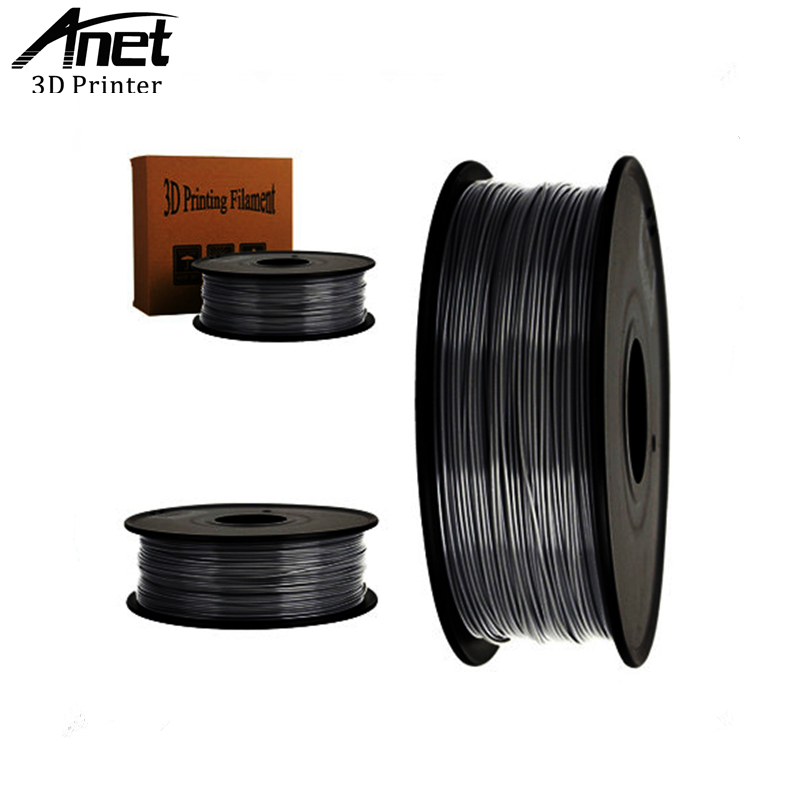 ANET ABS 1.75mm 1Kg/spool Plastic Rod Rubber Ribbon Consumables Material Refills for RepRap/UP/Mendel 3D Printer Filaments abs gold filaments 1 75mm 1kg spool wanhao 3d printer