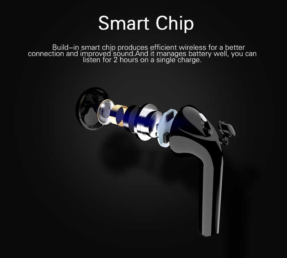 Langsdom T7 Mini słuchawki bezprzewodowe słuchawki Bluetooth słuchawki z okno ładowania prawdziwe bezprzewodowe wkładki douszne słuchawki Bluetooth do telefonów