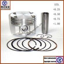 Qzindustria и качественный для SUZUKI 250cc мотоциклетные STD+ 0,25+ 0,50+ 0,75+ 1,00 GN250 и поршневые кольца комплект