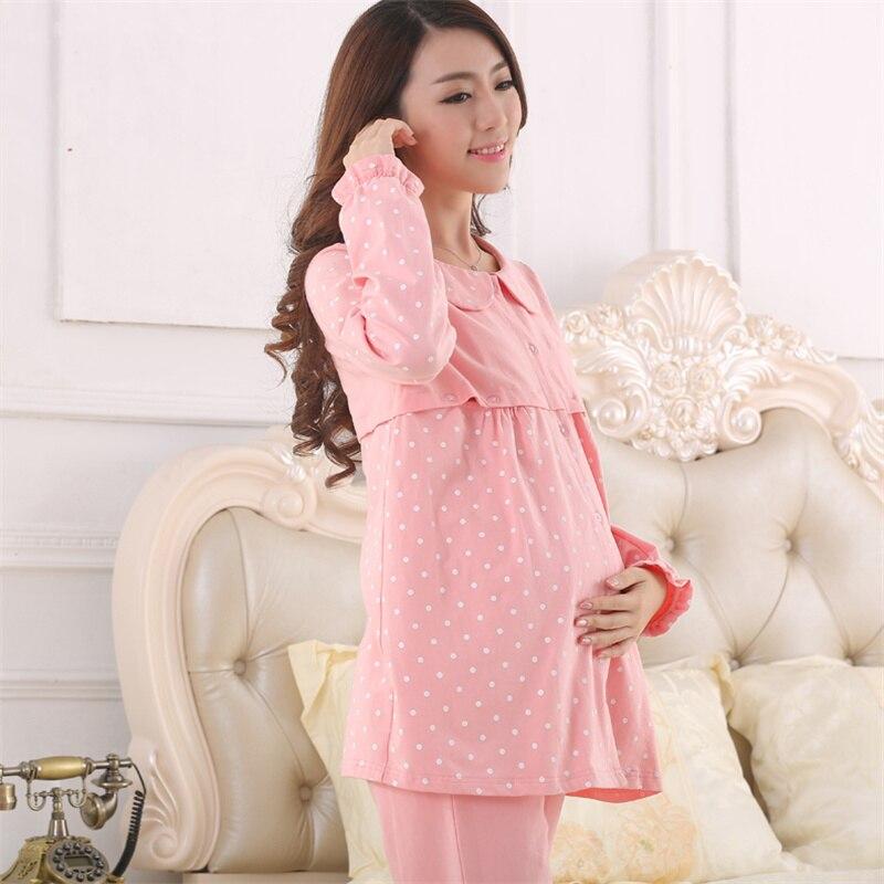 a pies en mejor venta Precio reducido Pregnancy Clothing Maternity Wear Winter Camisa De Dormir Maternal ...