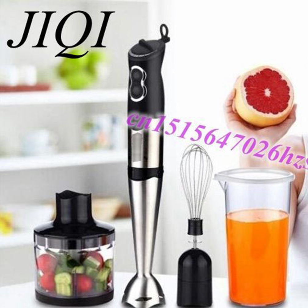 JIQI Hand-held Electric Mixer, Stainless Steel Mixer Cooking Device Four Set hand held pneumatic paint mixer stainless steel mixer blade ink mixer machine 5 gallons agitator pneumatic mixing