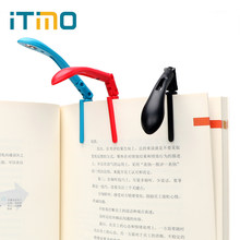 ITimo Folding Reading Lamp For Reader Kindle LED Book Lights Clip-on Book Flexible Adjustable With Battery(China)