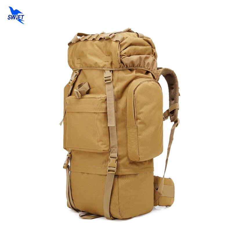 Nouveau Camo extérieur tactique militaire sac à dos 65L escalade sacs étanche voyage randonnée Trekking Camping sac à dos avec couverture de pluie