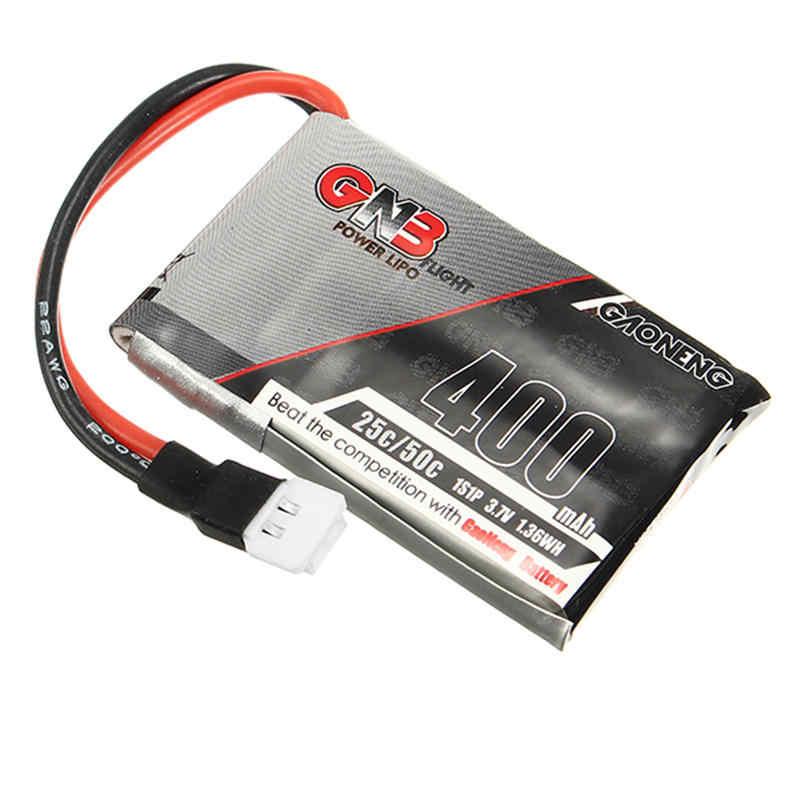 Gaoneng GNB 3.7 V 400 mAh 1 S 25C 50C Lipo batterie Rechargeable connecteur de prise blanche pour RC Multicopter modèles chargeur de puissance