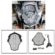 FOR KTM Motorcycle Headlight Protector Guard Lense Cover grill for KTM 1190 enture / 1190R 1290 Super Adventure 2015 2016 for ktm 1190r 1190 adventure 2013 2018 2017 2016 motorcycle accessories headlight head lamp light grille guard cover protector