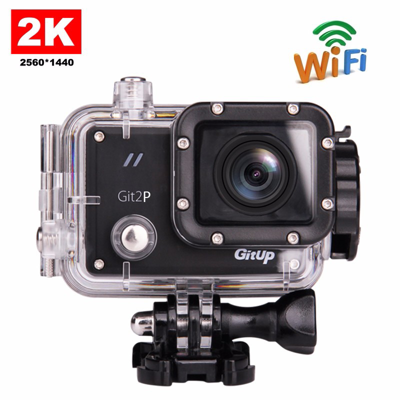 US $91 31 31% OFF|Original GitUP Git2P Pro Packing G Sensor Full HD 2K  1080p 60fps For Panasonic MN34120 16MP Sensor Wifi Sports Action Camera-in