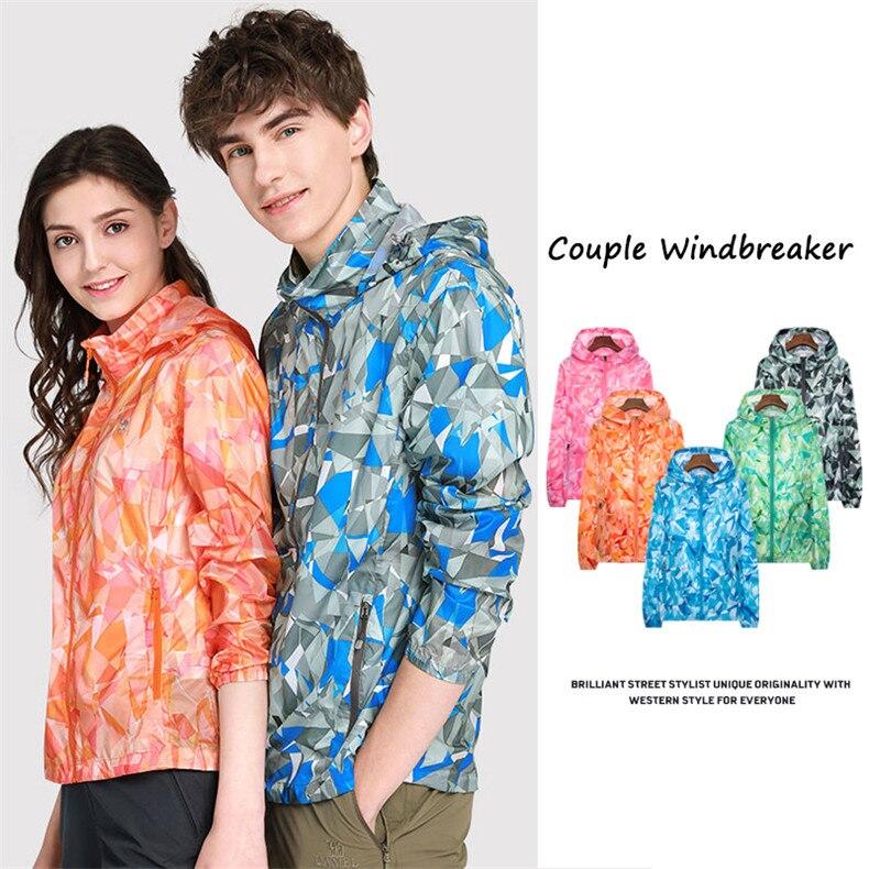 Couple Windbreaker Jackets Women Men Spring Summer Unisex Coats Women Plus Size Casual Sunscreen Clothing Ultrathin Rainproof 02
