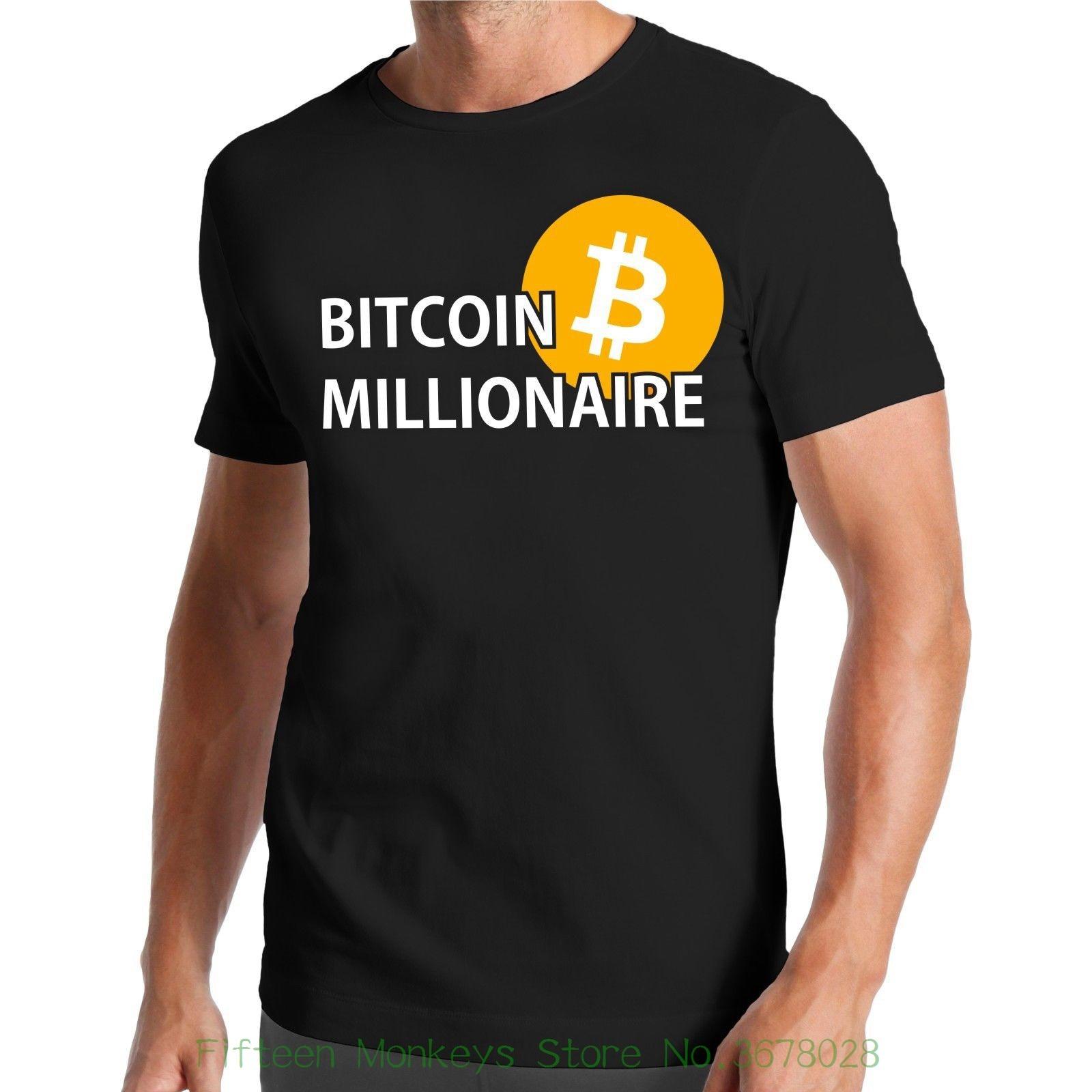 O Neck Short Sleeves Boy Cotton Men Bitcoin Millionaire T-shirt  Million ? R  B ? Rse  Stock Exchange  Krypto Crypto